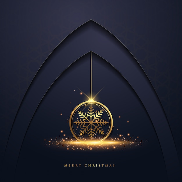 Christmas background with snowflake Premium Vector