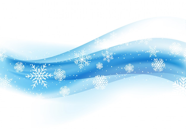 Christmas background with snowflakes on blue gradient 1110 Free Vector