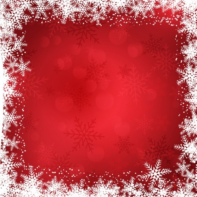 Christmas Background With Snowflakes Border Free Vector