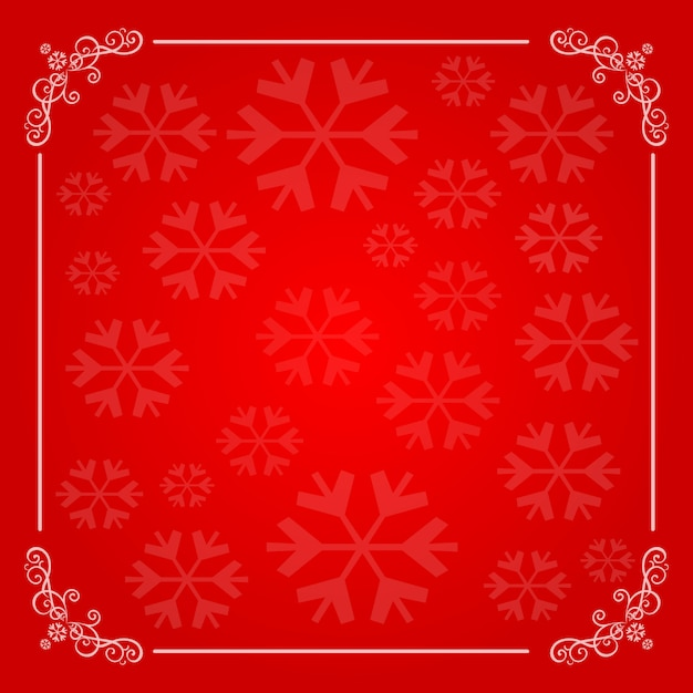 Christmas background with snowflakes frame Premium Vector