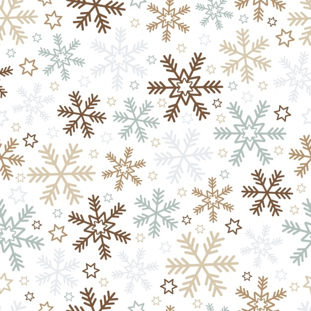 Christmas background with snowflakes and stars Free Vector