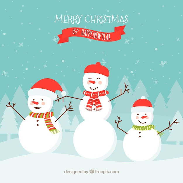 christmas background with snowmen 23 2147712189