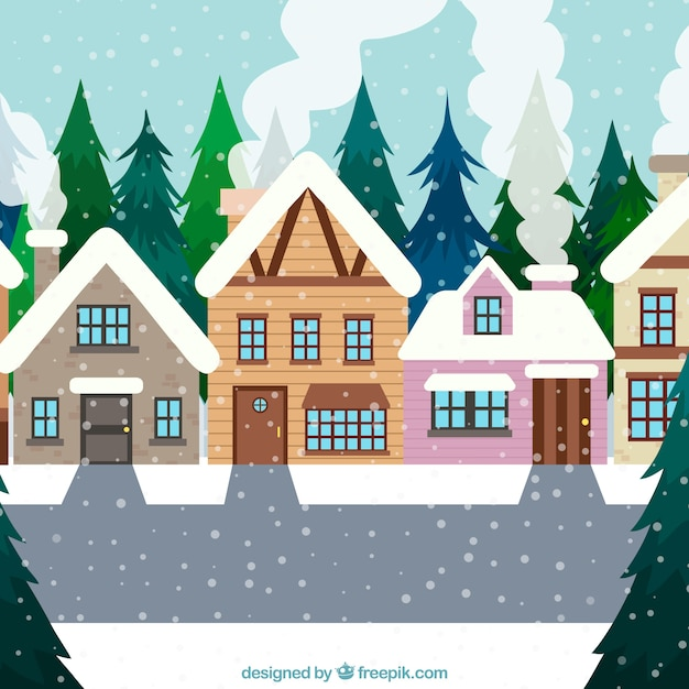 Prime Christmas Background With A Snowy Town Vector Free Download Interior Design Ideas Skatsoteloinfo
