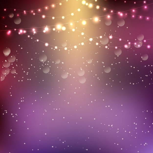String Of Lights Background : Christmas background with string lights Vector Free Download