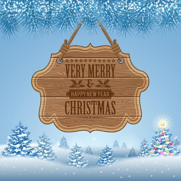 Christmas background Premium Vector
