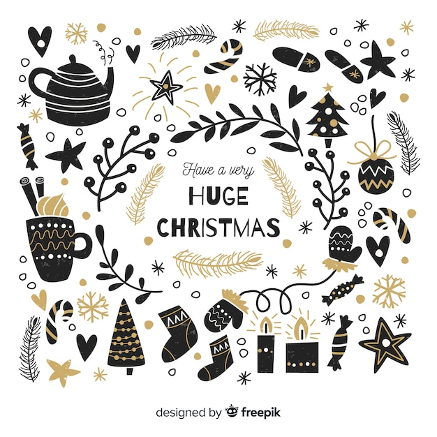 Christmas background Free Vector