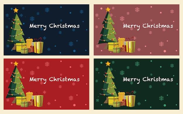 Christmas backgrounds Premium Vector