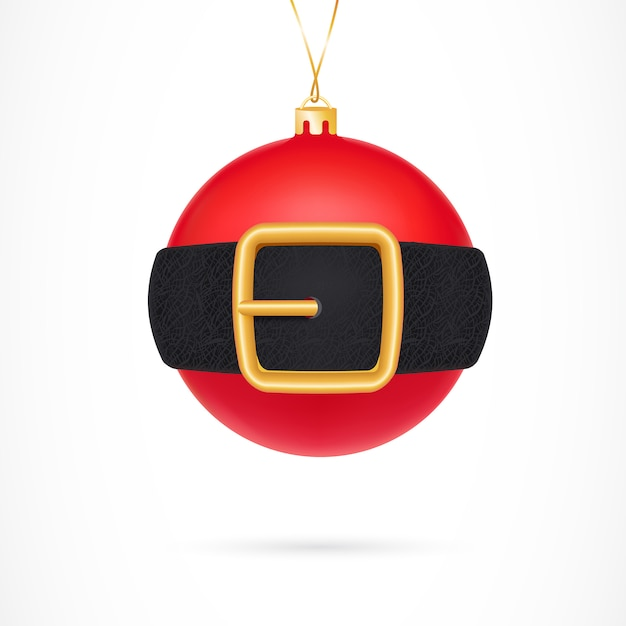 Christmas Ball Illustration Free Vector