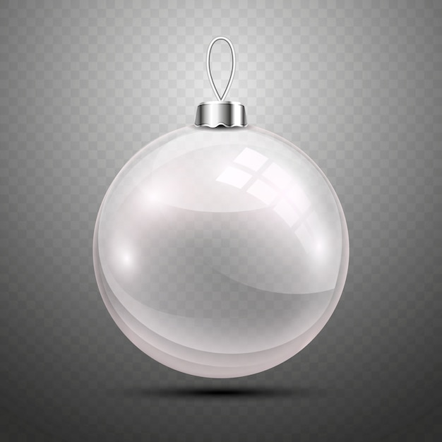 Christmas ball on transparent background Free Vector