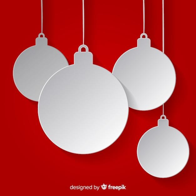 Christmas balls collection Free Vector