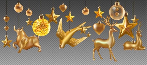 Quả bóng và đồ chơi Giáng sinh trên nền trong suốt. kỳ nghỉ Giáng sinh đồ chơi cho cây linh sam