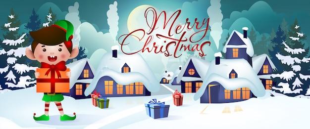 Christmas banner design Free Vector