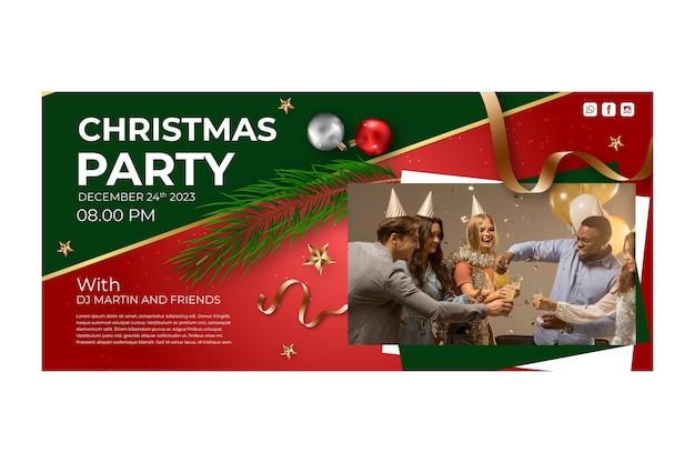 Рождественский баннер шаблон Бесплатные векторы