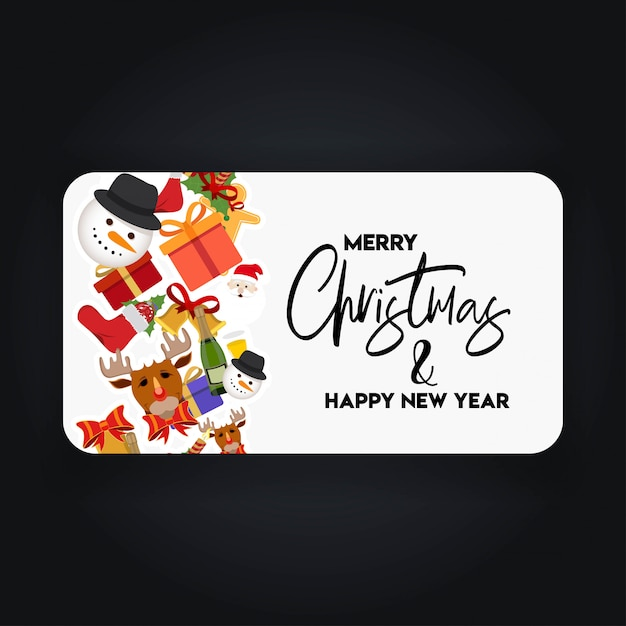 Christmas banner with elegant decoration Free Vector