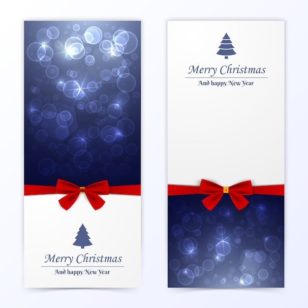 Christmas banners set Free Vector