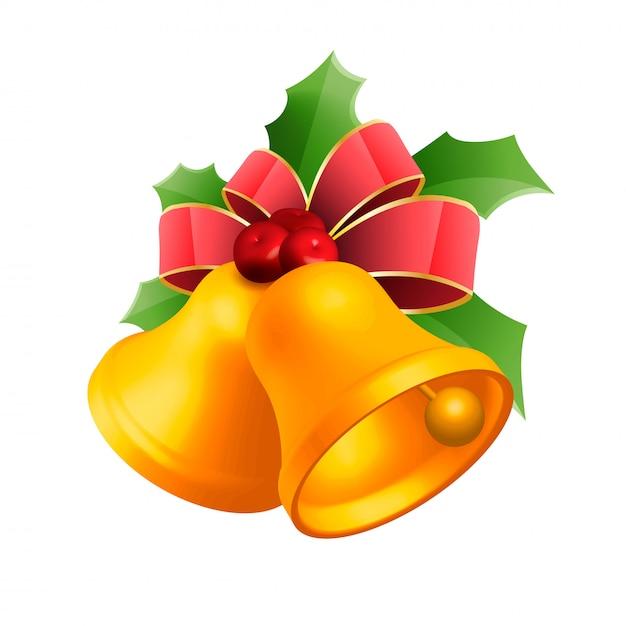 クリスマスベルベクトルイラスト Premiumベクター