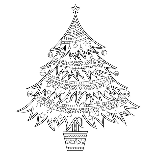 Free Vector Christmas Black And White Ornaments Collection