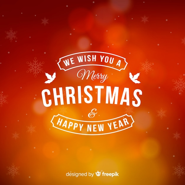 Christmas blurred background Free Vector