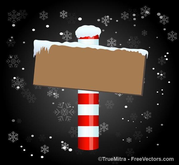 Christmas Board Design.Christmas Board Snow Dark Background Vector Free Download