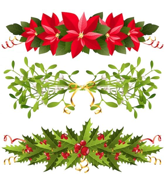 Christmas borders Premium Vector