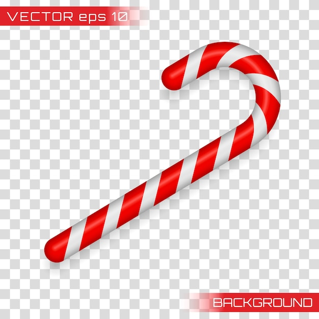 Christmas cane, christmas candy, christmas stick, red candy. candy cane isolated on white. Premium Vector
