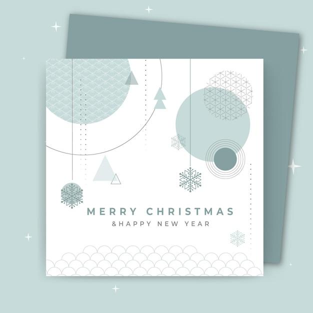 Концепция рождественской открытки Бесплатные векторы