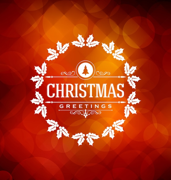 christmas card design elegant stylish greeting with typographic