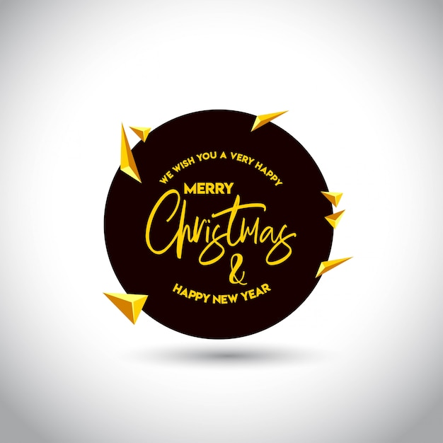 Christmas card design with elegant design Free Vector