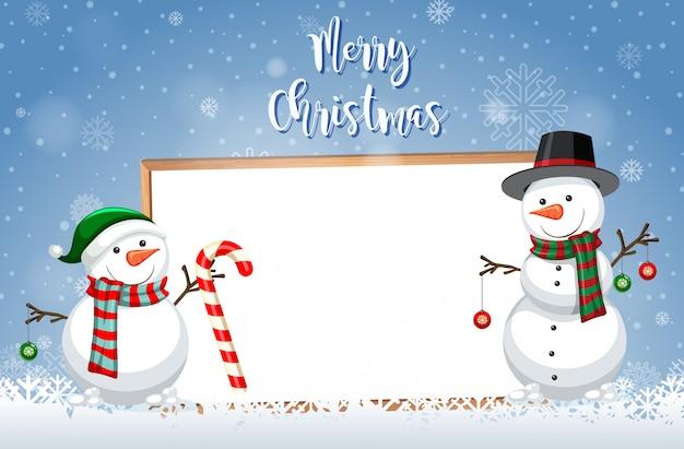 A christmas card template Free Vector
