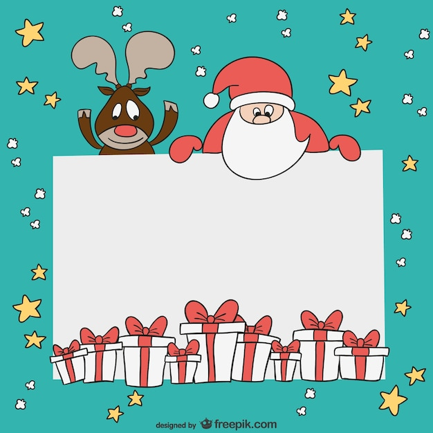 Christmas Card Template Vector Free Download - Christmas greeting card template