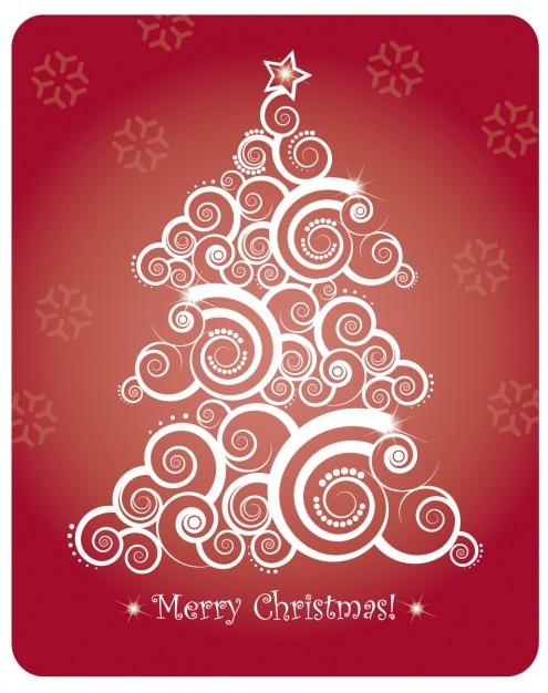 Christmas card with abstract christmas\ tree