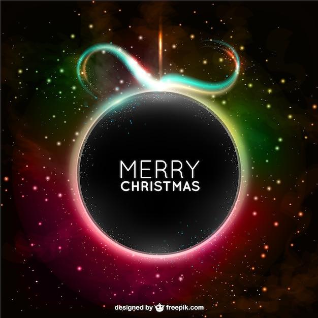 Christmas card with black ball