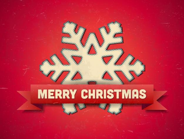Christmas card with snowflake Premium Vector