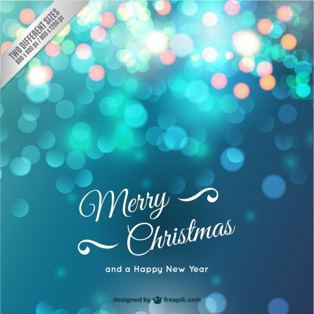Christmas card with sparkles Free Vector