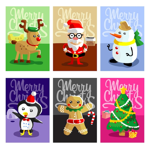Christmas cards with cute style