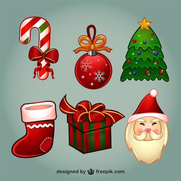 Christmas cartoon elements pack