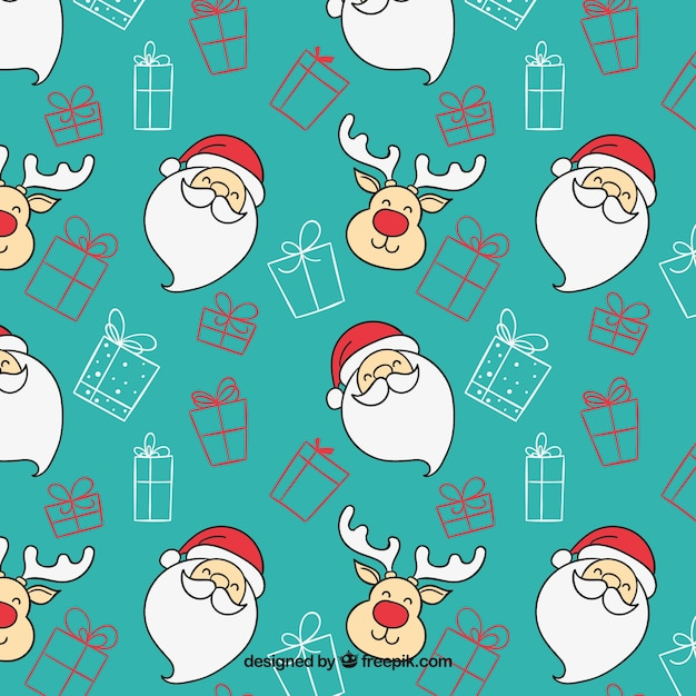 christmas cartoon pattern free vector - Christmas Cartoon Pictures