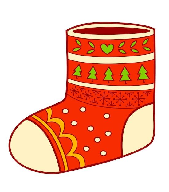 Premium Vector Christmas Cartoons Clip Art Sock Clipart Vector Illustration