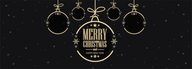 Christmas celebrations card banner template vector illustration Free Vector