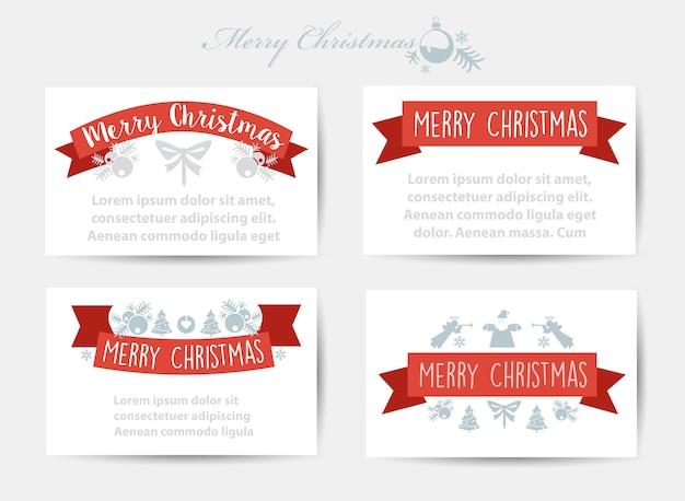 Christmas celebratory banner Premium Vector