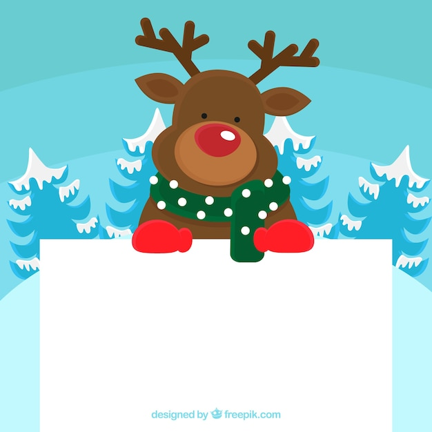 Christmas character with letter Free Vector