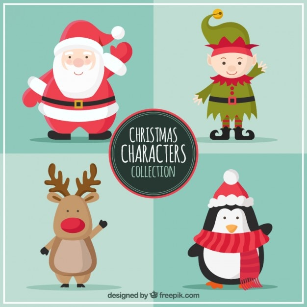 Christmas Characters Collection Vector | Free Download