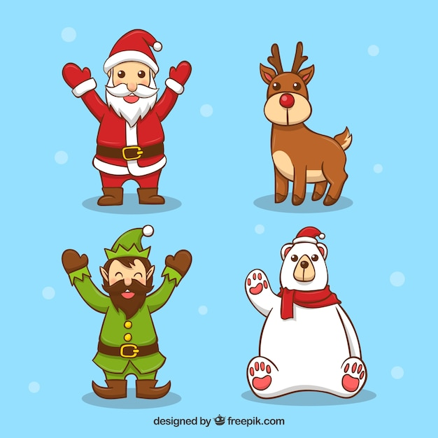 Christmas characters with cute style