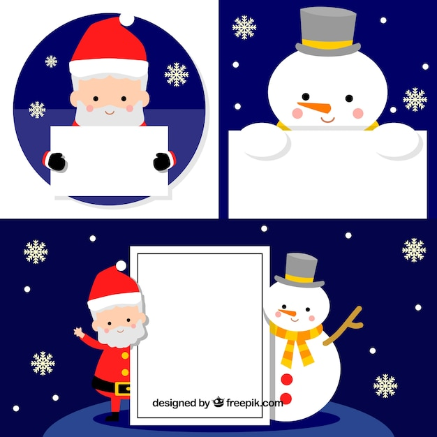 Christmas characters with letter