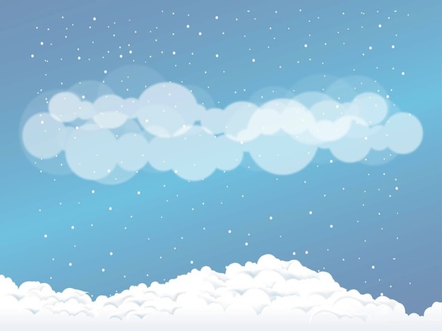 Christmas circles Snow clouds vector