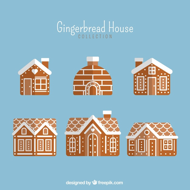 Christmas collection of gingerbread houses