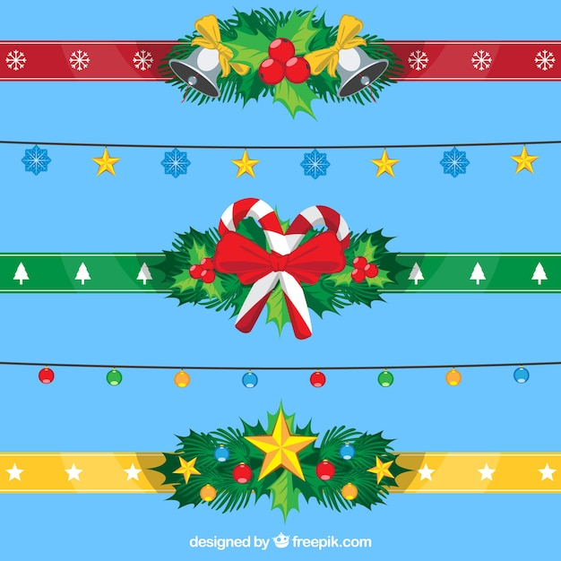 Christmas colored ribbons pack