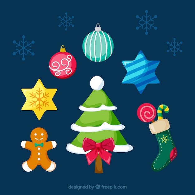 Christmas complements with colorful\ style