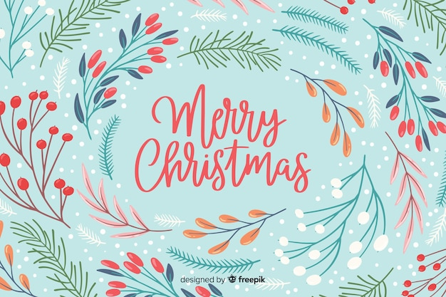 Christmas concept in flat design Free Vector