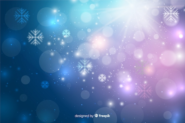 Christmas concept with sparkling background Free Vector